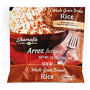 H-E-B Steamable Whole Grain Brown Rice