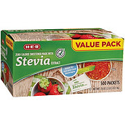 H-E-B Stevia Extract Packets Value Pack