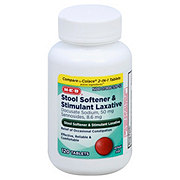 H-E-B Stool Softener & Stimulant Laxative Tablets