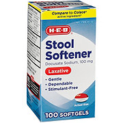 H-E-B Stool Softener Laxative 100 mg Softgels