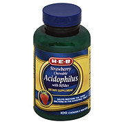 H-E-B Strawberry Acidophilus Chewable