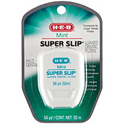 H-E-B Super Slip Waxed Dental Floss, 54 yard