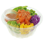 H-E-B Sushiya Salmon Poke Bowl with Spicy Sauce and White Rice