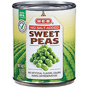 H-E-B Sweet Peas No Added Salt