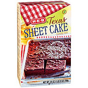 H-E-B Texas Sheet Cake & Frosting Chocolate Baking Mix