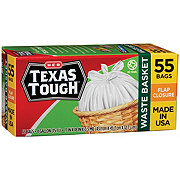 H-E-B Texas Tough 4 Gallon Waste Basket Twist Tie Bags