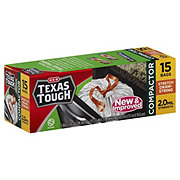 H-E-B Texas Tough Compactor 18 Gallon Stretch Drawstring Bags