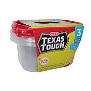 H-E-B Texas Tough Deep Rectangle 64 oz Food Storage Containers