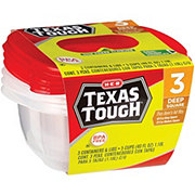 H-E-B Texas Tough Deep Square 40 oz Food Storage Containers