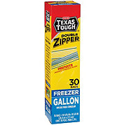 H-E-B Texas Tough Double Zipper Gallon Freezer Bags