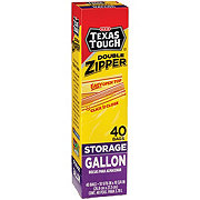 H-E-B Texas Tough Double Zipper Gallon Storage Bags