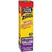 H-E-B Texas Tough Double Zipper Gallon Storage Bags