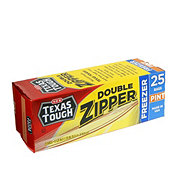 H-E-B Texas Tough Double Zipper Pint Freezer Bags