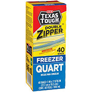 H-E-B Texas Tough Double Zipper Quart Freezer Bags