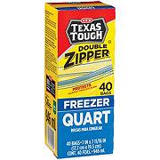 H-E-B Texas Tough Double Zipper Quart Freezer Bags