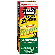 H-E-B Texas Tough Double Zipper Sandwich Bags