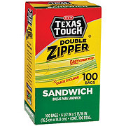 H-E-B Texas Tough Double Zipper Sandwich Bags