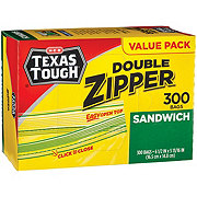 H-E-B Texas Tough Double Zipper Sandwich Bags Value Pack