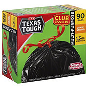 H-E-B Texas Tough Drawstring 33 Gallon Trash Bags Club Pack