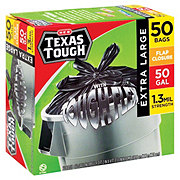 H-E-B Texas Tough, Drumliner 50 Gallon Trash Bags
