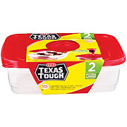 H-E-B Texas Tough Extra Large Rectangle 128 oz Food Storage Containers