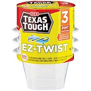 H-E-B Texas Tough EZ-Twist Pint Food Storage Containers