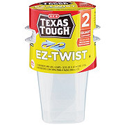 H-E-B Texas Tough EZ-Twist Quart Food Storage Containers