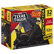 H-E-B Texas Tough Flap Closure Contractor 42 Gallon Trash Bags Club Pack
