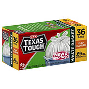 H-E-B Texas Tough Flap Closure Waste Basket 8 Gallon Trash Bags