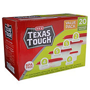 H-E-B Texas Tough Food Storage Containers Value Pack
