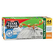 H-E-B Texas Tough Fresh Clean Scent Drawstring Tall Kitchen 13 Gallon Trash Bags