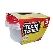H-E-B Texas Tough Large Bowl 48 oz Food Storage Containers