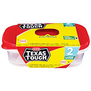 H-E-B Texas Tough Large Rectangle 76 oz Food Storage Containers