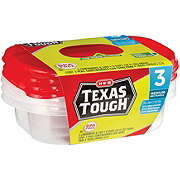H-E-B Texas Tough Medium Rectangle 32 oz Food Storage Containers