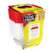 H-E-B Texas Tough Medium Square 25 oz Food Storage Containers Value Pack