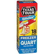 H-E-B Texas Tough Slider Quart Size Freezer Bags