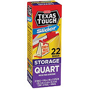H-E-B Texas Tough Slider Quart Size Storage Bags
