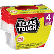 H E B Texas Tough Small Rectangle 24 Oz Food Storage Containers