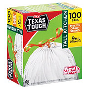 H-E-B Texas Tough Stretch Drawstring Tall Kitchen 13 Gallon Trash Bags