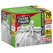 H-E-B Texas Tough Tall Kitchen 13 Gallon Flap Closure Trash Bags