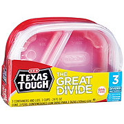H-E-B Texas Tough The Great Divide 24 oz Food Storage Containers