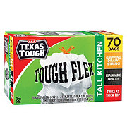 H-E-B Texas Tough Tough Flex Gripping Drawstring Tall Kitchen 13 Gallon Trash Bags