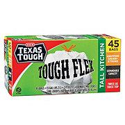 H-E-B Texas Tough Tough Gripping Drawstring Flex Tall Kitchen 13 Gallon Trash Bags