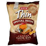 H-E-B Thin Special Recipe Smoked Gouda Potato Chips