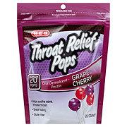H-E-B Throat Relief Pops Cherry & Grape Assorted
