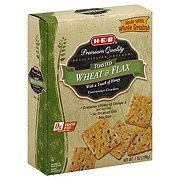 H-E-B Toasted Wheat & Flax Entertainer Crackers