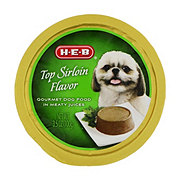 H-E-B Top Sirloin Flavor in Meaty Juices Wet Dog Food