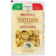 H-E-B Tortelloni Filled Pasta with Ricotta and Spinach, Family Size