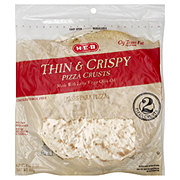 H-E-B Traditional Thin and Crispy 12 Inch Pizza Crusts