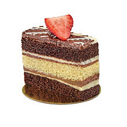 H-E-B Triple Chocolate Tiger Cakerie Cake Slice